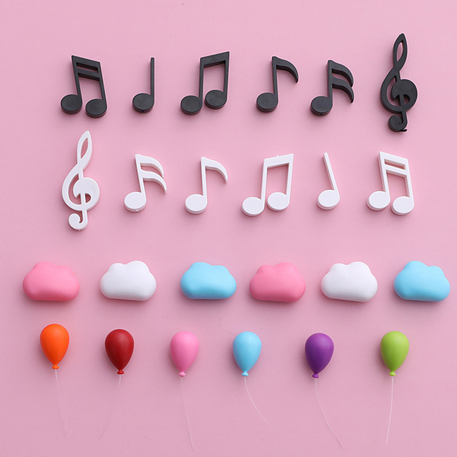 cloud musical balloon magnet magnetic home decor decoration fridge magnet refrigerator magnets home stickers on the refrigerator 6