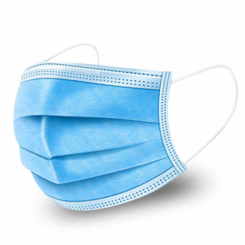 Disposable Dust Mouth 3 Ply Face Mask Elastic Ear Loop Anti ...
