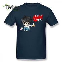 Cute Cartoon Death Note L T Shirt Man Stylish Summer Streetwear 100% Cotton S-6XL T-shirt