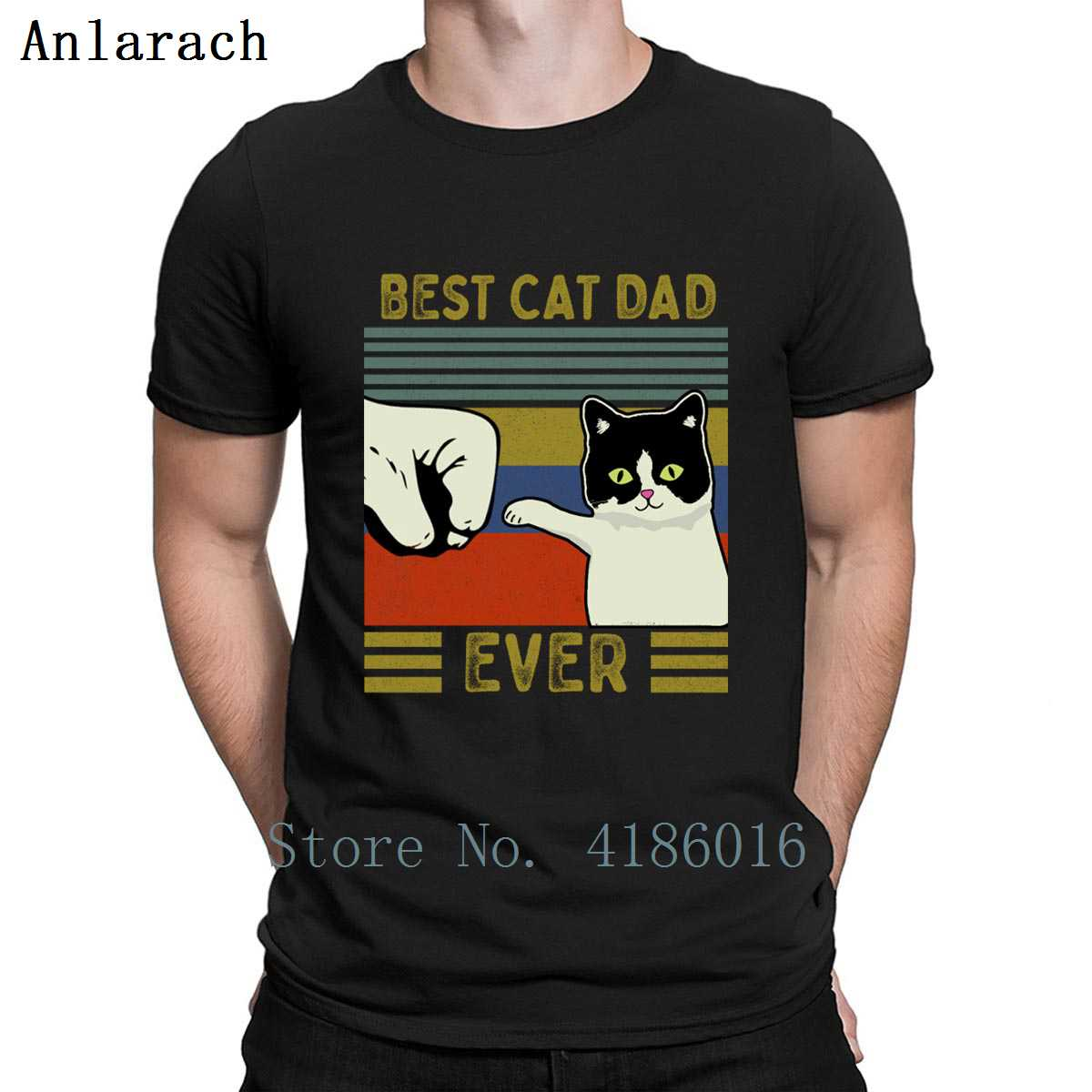 Vintage Best Cat Dad Ever Bump T Shirt Sunlight Leisure Cotton Spring Vintage S-4XL Personalized New Fashion Shirt