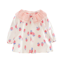 New Autumn 0-3T Baby Girl Blouse Sweet Lovely Strawberry Print Shirt Fashion Trend Cotton Long-sleeved Girls Blouse #m blouse 1207041 13