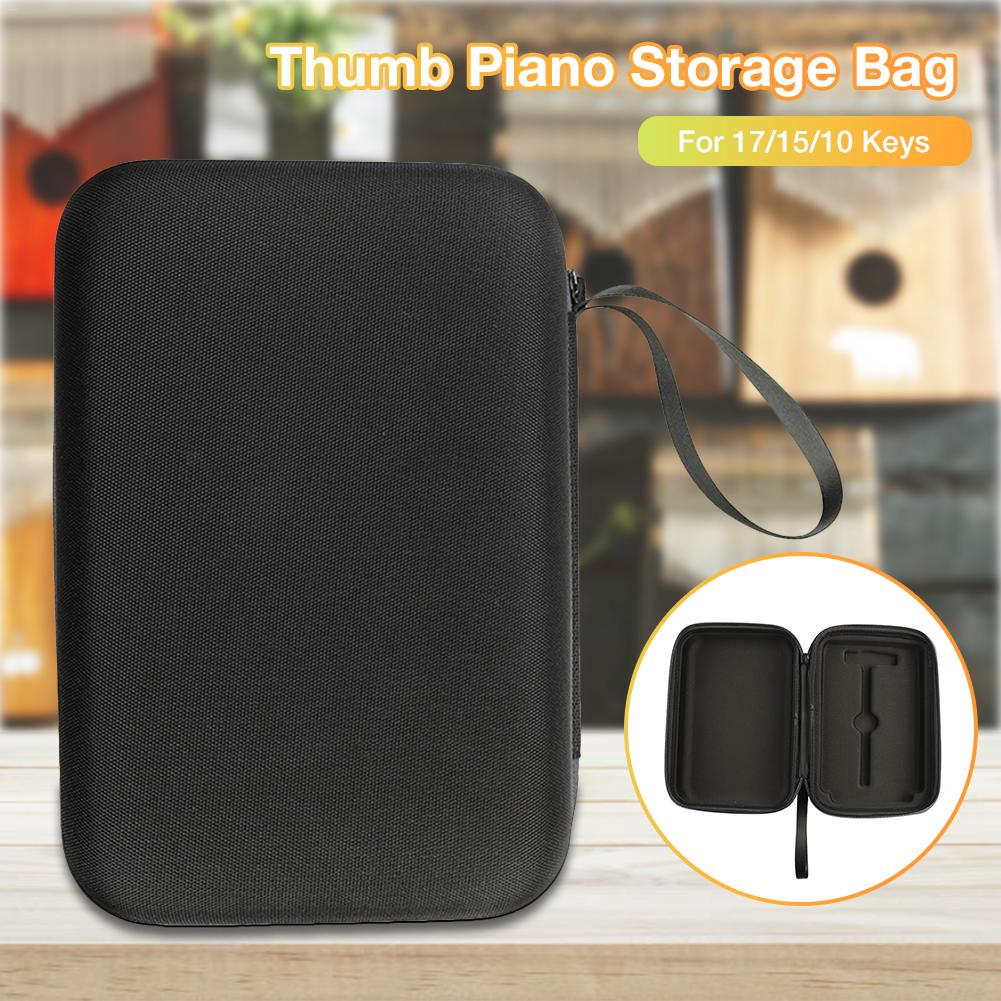 17/15/10 Keys Thumb Piano Storage Bag Carrying Case For Kalimba Mbira Sanza Handbag Musical Instrument Accessories