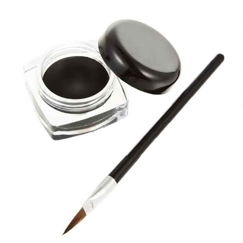 Pinceau de maquillage de gel d'eyeliner à longue action de beauté de maquillage d'eyeliner imperméable noir