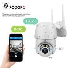 PODOFO WIFI Camera Outdoor waterproof HD 1080P Wireless IP Camera Security Surveillance IR Night Vision CCTV For Storage Home