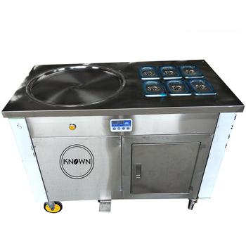 Najlepiej sprzedające się smażone lody maszyna lody rolki KN-1D6B pojedyncza patelnia maszyna do produkcji lodów przez bezpłatną wysyłkę tanie i dobre opinie NoEnName_Null 2800W 1501 ml CBJF-2D11B fry ice cream machine Chłodzenie powietrzem CBJF-1D6B fry ice cream machine 220V 110V 50 60 Hz