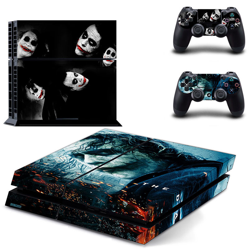 Joker PS4 Skin Batman Play station 4 Stickers PS 4 Sticker Decal Pegatinas Adesivo For PlayStation 4 console and 2 controller image