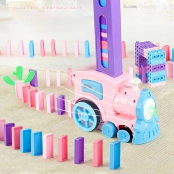 Elektryczny pociąg domino automatycznie nakłada na licencjonowanie mały pociąg zabawek edukacyjnych dla dzieci dla chłopców i dziewcząt 17 tanie i dobre opinie Y017 8 ~ 13 Lat 14Y 2-4 lat 5-7 lat Dorośli Z tworzywa sztucznego Transport