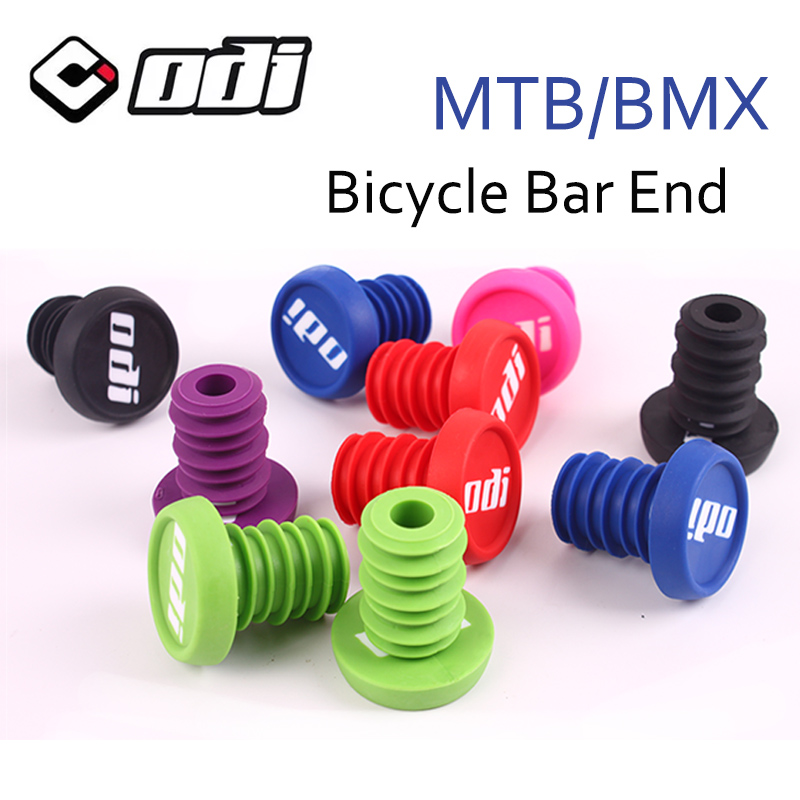 1 Pair ODI Bicycle Grip End Plugs Anti-slip Firm Handlebar Caps Lightweight Bar End Plugs For MTB BMX DH FR Balance Car