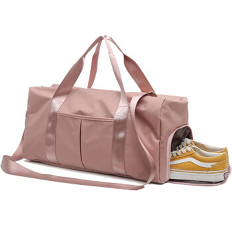 Syeendy Nylon Women Men Travel Sports Gym Shoulder Bag Large Waterproof Nylon Handbags Black Pink Color Outdoor Sport Bags New
