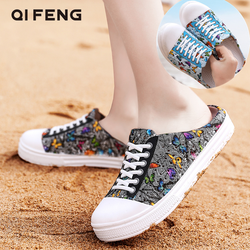 Summer Slippers Beach Shoes Women Casual Fashion Garden Shoes Female Water Shoes Outdoor Anti Slippery Beach Shoes Sandal Spring