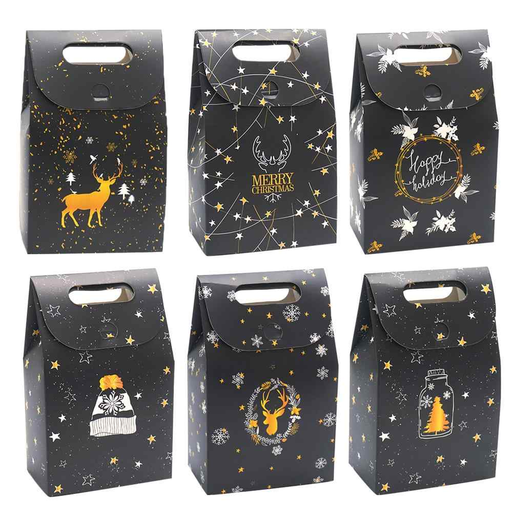 Christmas Gift Box Night Deer Paper Bag Chocolate Biscuit Candy Box Company Party New Year Christmas Decoration Gift Bag