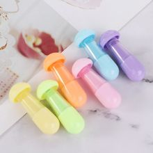 6 Pcs/Pack Creative Mushroom Sticks Fluorescent Pen Cartoon Cute Mini Stationery