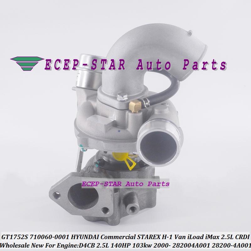 Turbo GT1752S 710060 710060-0001 28200-4A001 282004A001 Pour HYUNDAI Commercial STAREX H-1 Van iLoad iMax 2.5L CRDI D4CB 140HP
