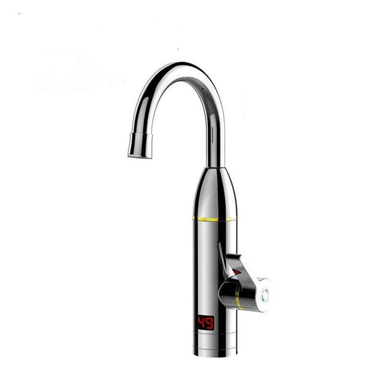 Электрический кухонный смеситель для мгновенного нагрева, нагреватель горячей и холодной воды двойного назначения, без резервуара, быстрый нагрев, светодиодный душ с дисплеем|Электрические водонагреватели|   | АлиЭкспресс