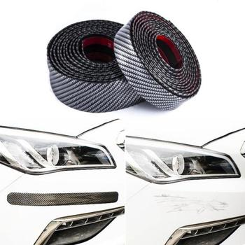 Car-styling car door Plate protector 5D Carbon Fiber sticker Sill Scuff Cover Anti Scratch tuning car universal car Accessories image