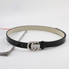 Fashion Woman Leather Black Belt Unisex Soft Wild Student Pants Belt