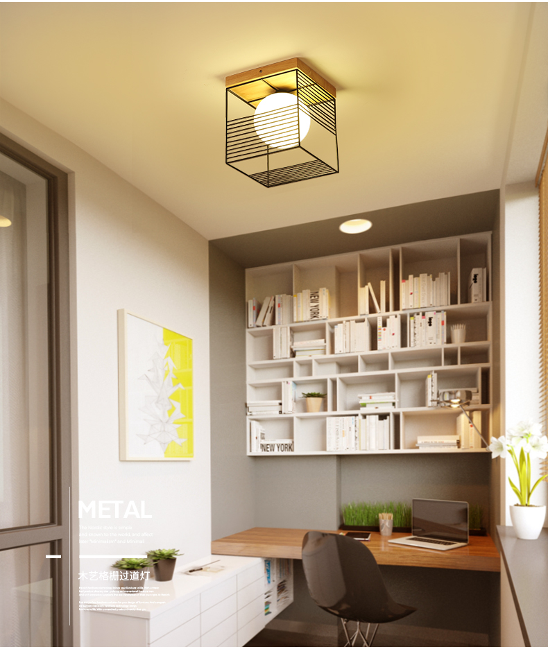 Luminária de teto em madeira led, candelabro