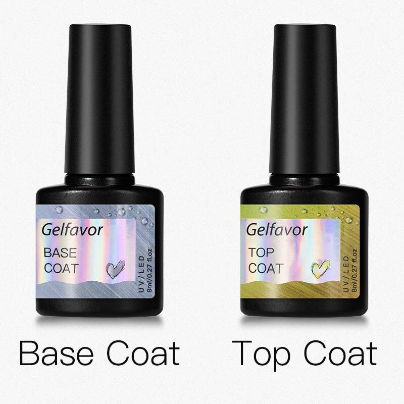 Gelfavor Gel Nail Polish Set Hybrid Varnishes 4/6Pcs Base Top For Nails UV LED Lamp Gel  Kits Manicure Nails Gel Polish Set 42