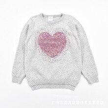 Хлопковая одежда для малышей на весну, осень и зиму пуловер с вырезом лодочкой свитер с сердечками и снежинками Детский свитер для девочек для детей среднего и маленького возраста