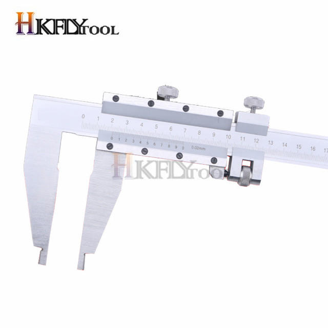 0-500mm Vernier Caliper Steel slide caliper with Nib Style Long Jaw heavy duty caliper measuring gauge tool