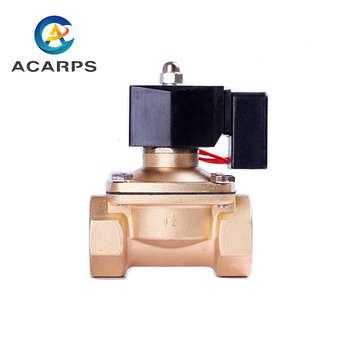 цена на Non Hot 3/41 1-1/41-1/2 2 Solenoid Valve Water Air Oil Brass Normally Closed Electric 220v 12v 110v 24v For Long-time Worki