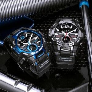Image 5 - Men Watches SMAEL Sport Watch Waterproof 50M Wristwatch Relogio Masculino Militar 1805 Mens Clock Digital Military Army Watch