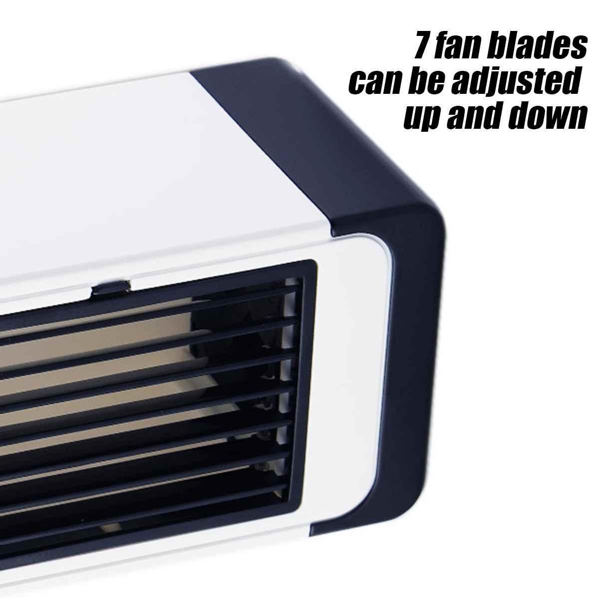 Домашний мини-кондиционер, портативный воздушный кулер, светодиодный USB персональный кулер, вентилятор воздушного охлаждения, перезаряжаемый Настольный вентилятор