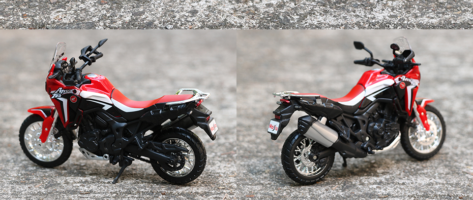 Africa Twin DCT CRF1000L Motorcycle Toy Model 24