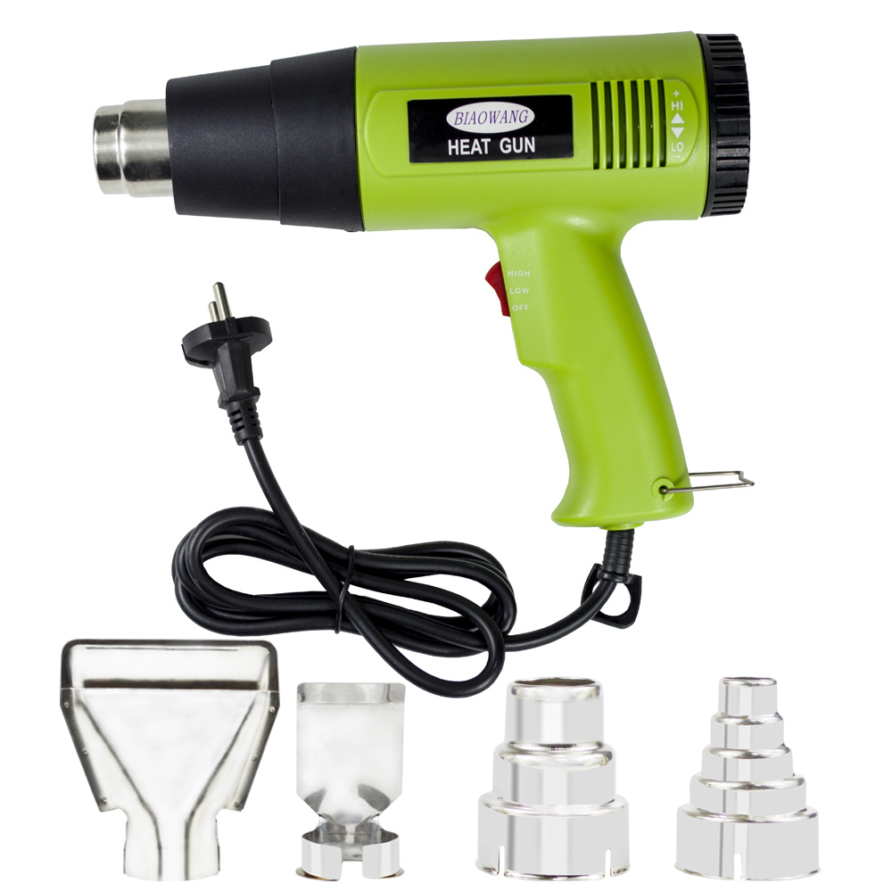 Hairdryer For Embossing Heating Gun Hot Air Heat Shrink Gun 220V 1800W EU AU Plug  Temperature Adjustable With 4 Nozzles