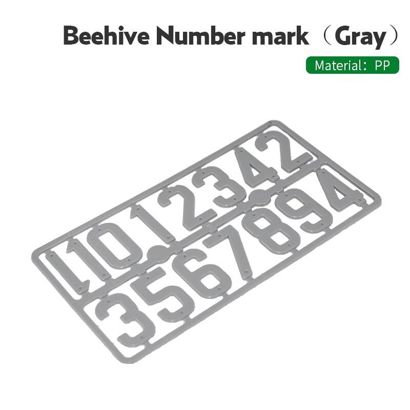 2Pcs/pack Plastic Beehive Digital Number Card Bee Case Box Sign Frame Beekeeping Equipment Tools Beekeeping Mark Board