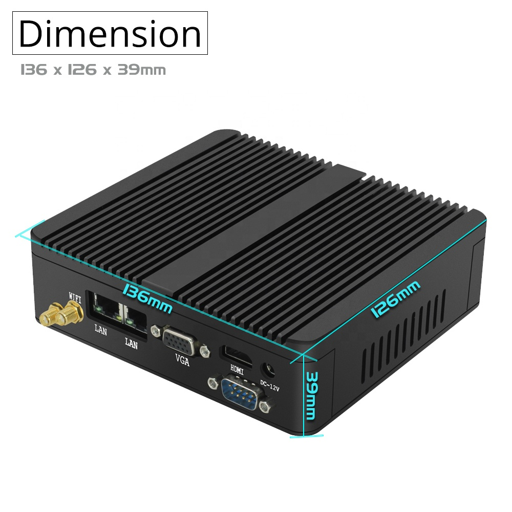 Industrial Mini PC Mainframe Car PC With Intel N3350 Mini Pc Windows10 With VGA RS232 RJ45