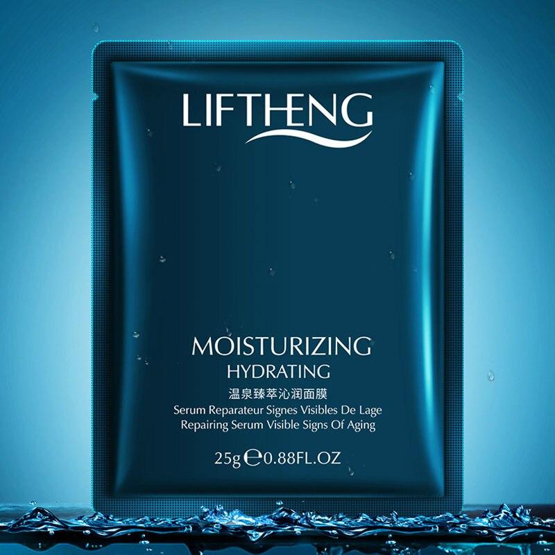 Hot Spring Moisturizing Mask Hydrating Shrink Pores Deep Hydrating Facial Care Skin 1 PCS