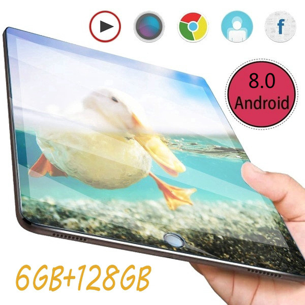 2020 New WiFi Tablet PC 10 Inch 6G+128GB 4G Network Ten Arge 1280 * 800 IPS Screen Dual SIM Dual Tablet 4G Call Phon Tablet