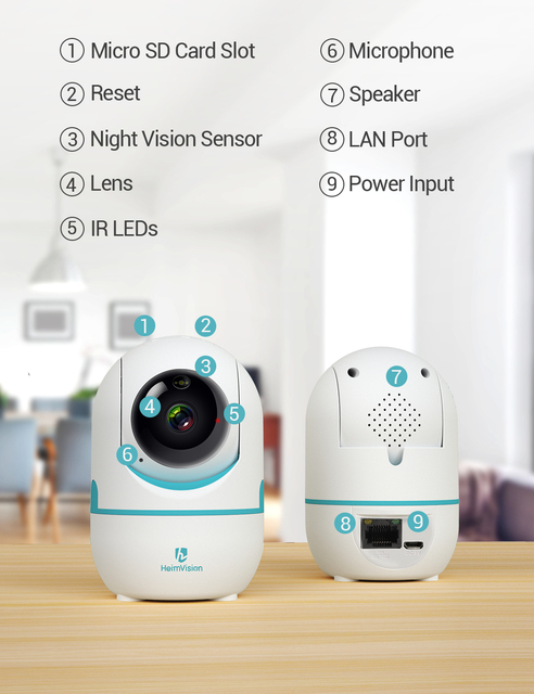 HeimVision HM202A 2K IP Camera Wifi Security Cam 2 Way Audio Motion Detect Night Vision Surveillance PTZ Camera Home/Baby/Pet 6