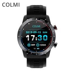Colmi céu 6 relógio inteligente homem ip68 à prova dip68 água toque completo rastreador de fitness vidro temperado relógio inteligente pressão arterial smartwatch