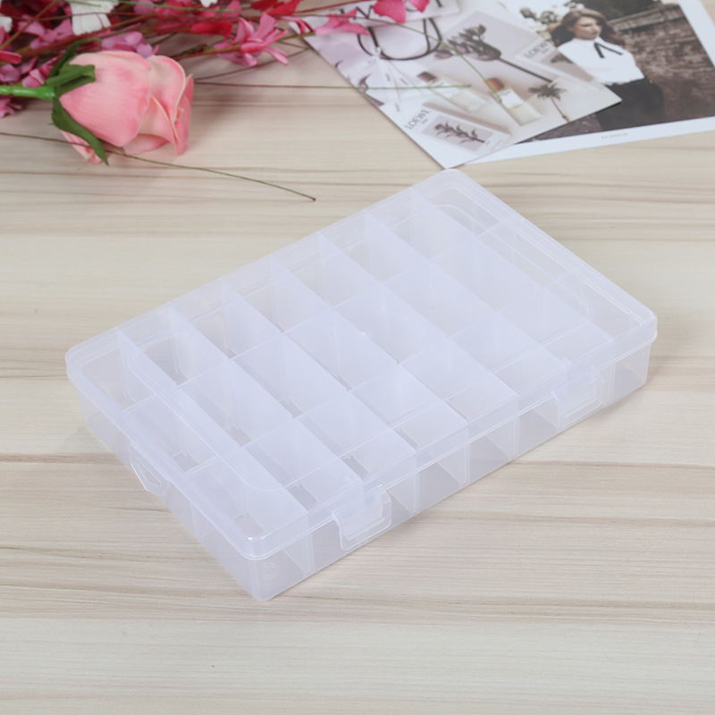 Tool Box Adjustable Transparent Plastic Storage Box For Terminal Electronic Components Bead Pills Organizer Nail Art Tip Case