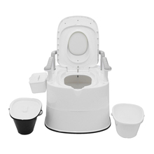 Portable Removable Toilet Commode Old Elder Pregnant Woman  Barrel Seat Kit Home Bathroom Potty Travel Toilets with 2 Buckets