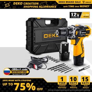 "DEKO 12/16/20V MAX Cordless Drill Electric Screwdriver,18+1 Torque Settings,2-Speeds,3/8"" Keyless Chuck Power Tools(DKCD Series)"