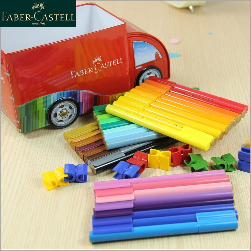 Faber-Castell Watercolor Marker  Connector Pens Set Felt Tips Playful Fun Colouring Building Washable Great Gift FOR Kids