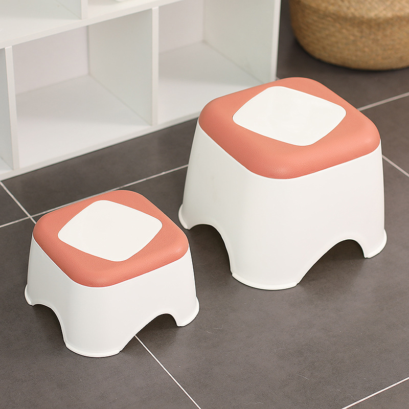 Bench Plastic Multi Purpose Round Step Stool Home Train Outdoor Footstool Short Baby Non-slip Children Small Platform Furniture