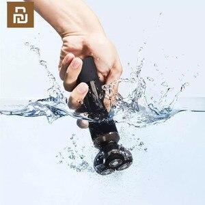 Image 2 - Youpin MSN su geçirmez akıllı elektrikli tıraş makinesi büyük LCD ekranlı akülü tipi c şarj edilebilir kuru ıslak tıraş jilet kendinden yıkama