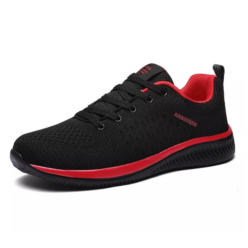 Men Women Couple Running Shoes 2019 Autumn Light Comfortable Lace-up Shoes Black Sports Womens Shoes Womens Fashion Sneakers