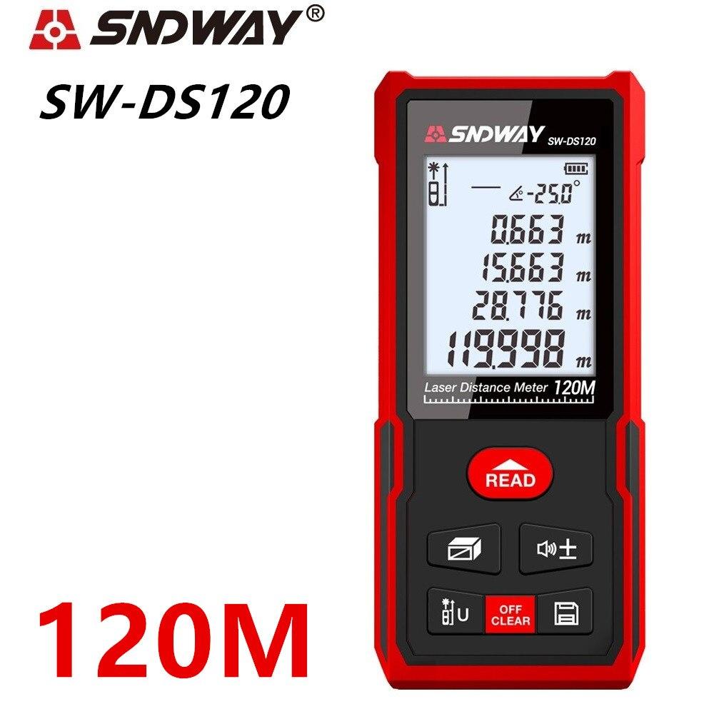 Sndway laser rangefinder distance meter 40m 50m 70m 100m 120m electronic roulette digital trena laser tape