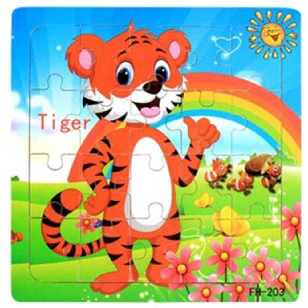2019 New 20 Pcs Kids Paper Education Animal Toys Puzzles Shape Cognition Puzzle Toy For Children