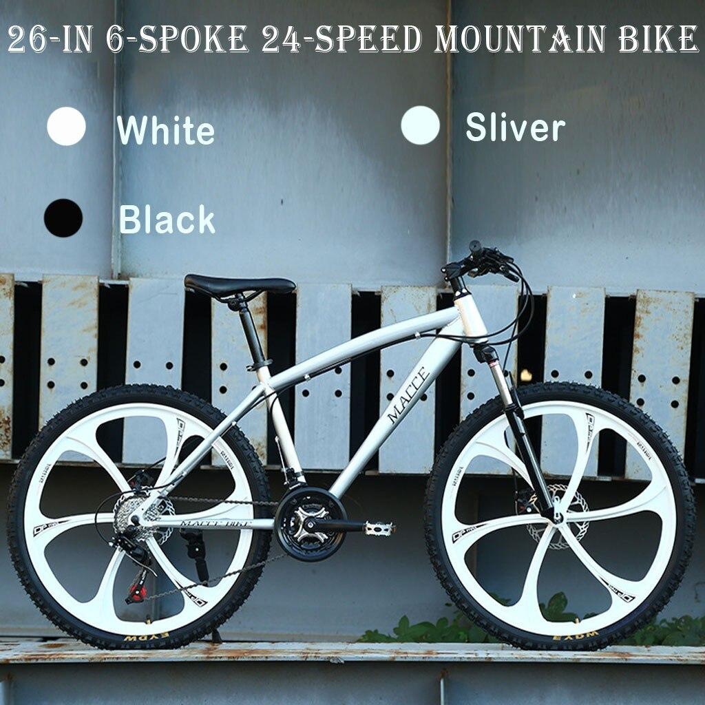Горный велосипед из углеродистой стали, 26 дюймов, 24 скорости, складной велосипед, дорожные велосипеды унисекс для школьных видов спорта # g45