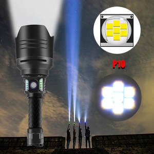 Super Bright 7 Core P10 Led Flashlight Torch 18650 USB Rechargeable Flashlight Aluminum Alloy Led Flash Light Outdoor Sport