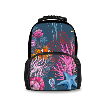 Customized Deep Sea Clownfish Print Backpack Boys and Girls Backpacks School Bags Work Travel Backpacks Teen Backpacks clownfish blues