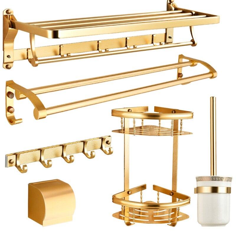 Yage Princess Alumimum Towel Rack Parvenu Gold Gift Packs Bathroom Hardware Pendant Towel Rack Set
