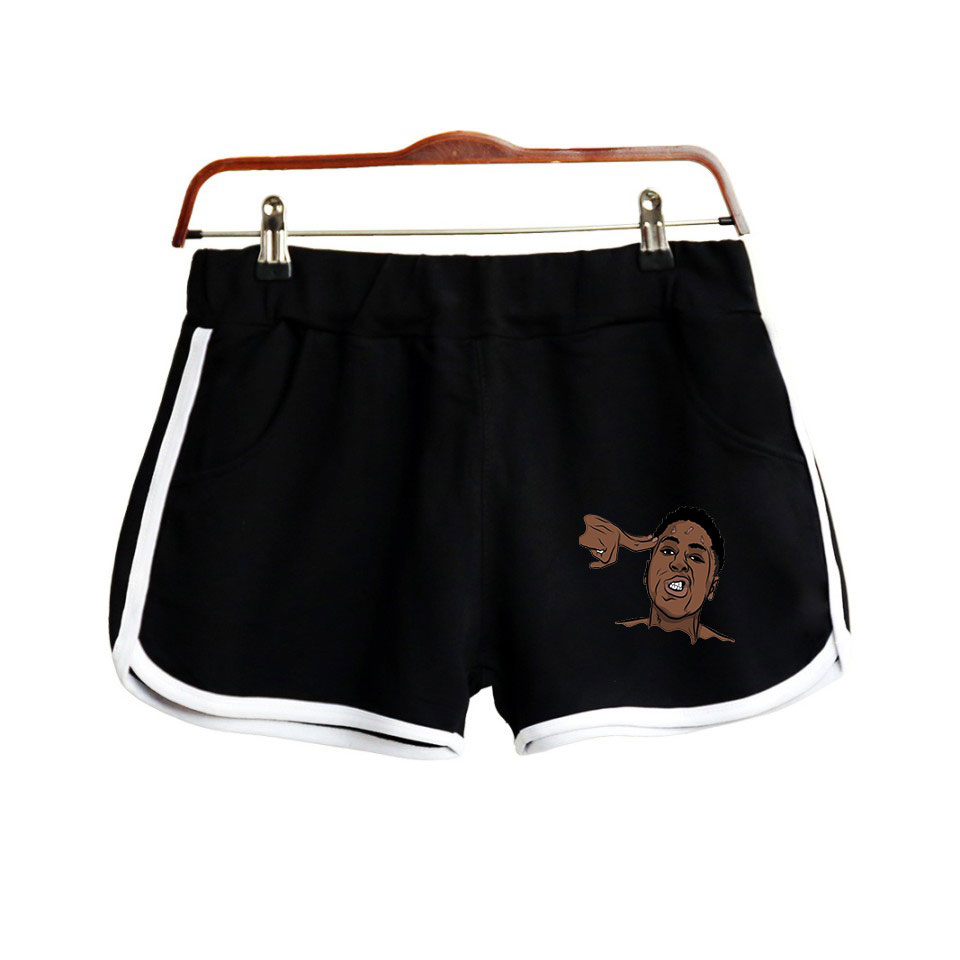 Rapper YoungBoy Never Broke Again Kentrell DeSean Gaulden Print Women Shorts Harajuku Ladies Hot Sale Sexy Kawaii Shorts
