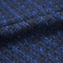 2019 סתיו חורף חיל הים כחול רך טוויד בד עבור מעיל חצאית tissu אפריקה bazin riche getzner telas tissus stoffen tecido tela